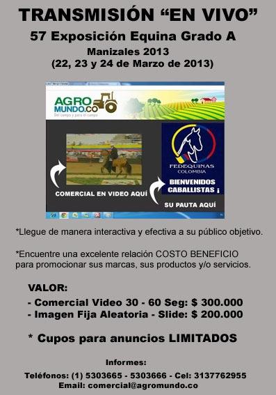 Transmision en vivo Exposicion Equina Manizales 2013
